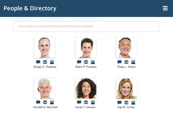 People and Directory - Healthcare Intranet